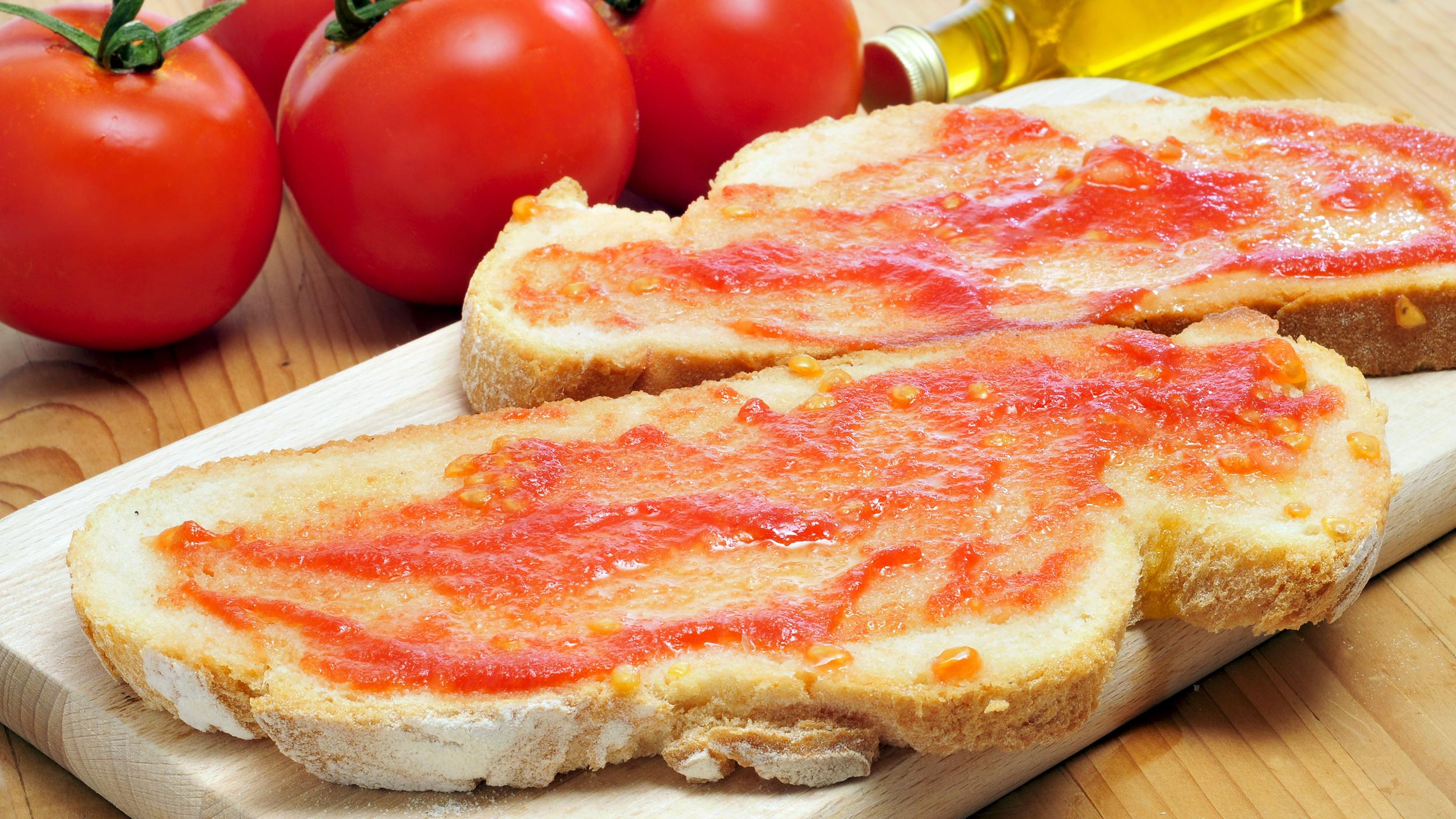 Pa amb Tomàquet, Pan Con Tomate típico Catalan